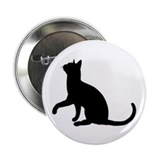 "Black Cat Silhouette 2.25"" Button (10 pack)"