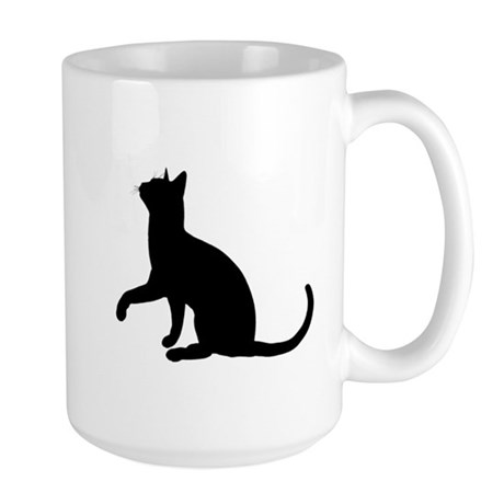 Black Cat Silhouette Large Mug
