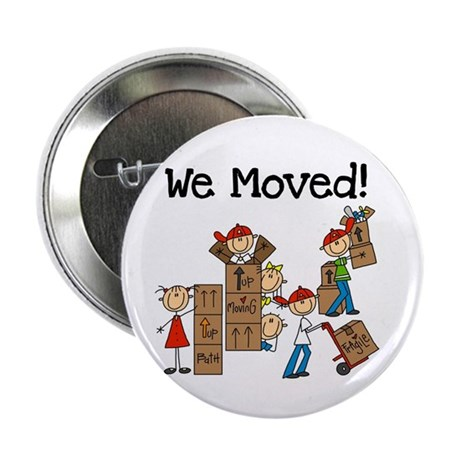 """Unpacking We Moved 2.25"""" Button (100 pack)"""