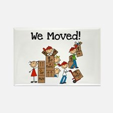 Unpacking We Moved Rectangle Magnet (10 pack)