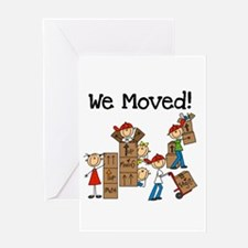 Unpacking We Moved Greeting Card