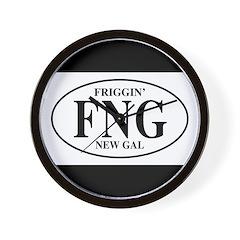 FNG Friggin New Gal Wall Clock