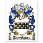 Thorrissen Coat of Arms Small Poster
