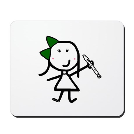 Girl & Recorder Mousepad
