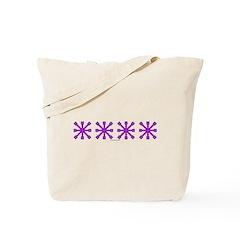 Purple Jacks Tote Bag