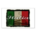 Italian pride Rectangle Sticker 10 pk)