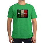 Italian pride Men's Fitted T-Shirt (dark)