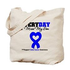 ColonCancerHeart Son Tote Bag