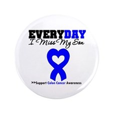 "ColonCancerHeart Son 3.5"" Button"