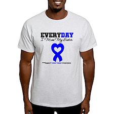 ColonCancerHeart Sister T-Shirt