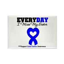 ColonCancerHeart Sister Rectangle Magnet (10 pack)