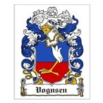 Vognsen Coat of Arms Small Poster