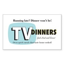 TV Dinner Rectangle Decal