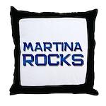 martina rocks Throw Pillow