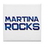 martina rocks Tile Coaster
