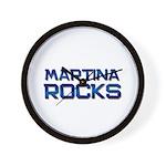 martina rocks Wall Clock
