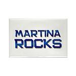 martina rocks Rectangle Magnet (10 pack)