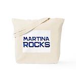 martina rocks Tote Bag