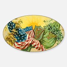 American Irish Sticker (Oval)