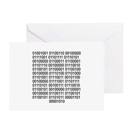 If you can read - Binary code Greeting Card