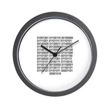 If you can read - Binary code Wall Clock