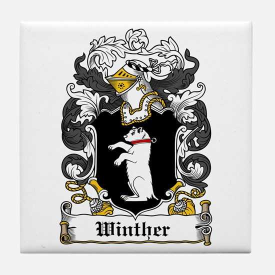 Winther Coat of Arms Tile Coaster