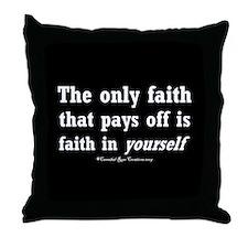 Real Faith Throw Pillow 2