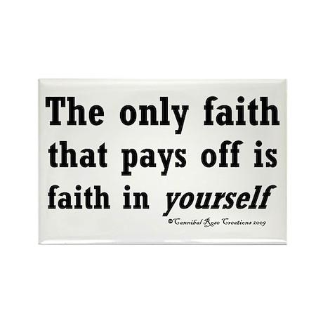 Real Faith Rectangle Magnet