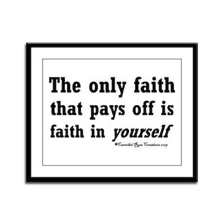 Real Faith Framed Panel Print