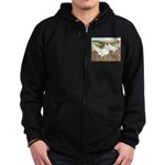 Chickens On The Farm Zip Hoodie (dark)