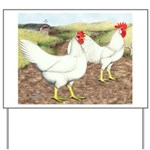 Chickens On The Farm Yard Sign