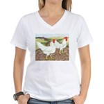 Chickens On The Farm Women's V-Neck T-Shirt