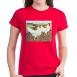 Chickens On The Farm Women's Dark T-Shirt