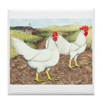 Chickens On The Farm Tile Coaster