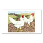 Chickens On The Farm Rectangle Sticker