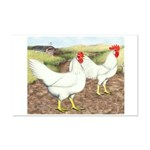 Chickens On The Farm Mini Poster Print