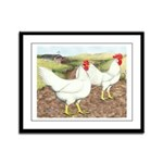 Chickens On The Farm Framed Panel Print