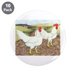 "Chickens On The Farm 3.5"" Button (10 pack)"