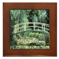 Claude Monet Art Framed Tile Japanese Bridge