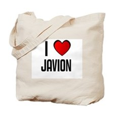 I LOVE JAVION Tote Bag