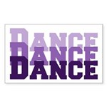 Dance Dance Dance Rectangle Sticker 50 pk)