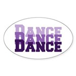 Dance Dance Dance Oval Sticker