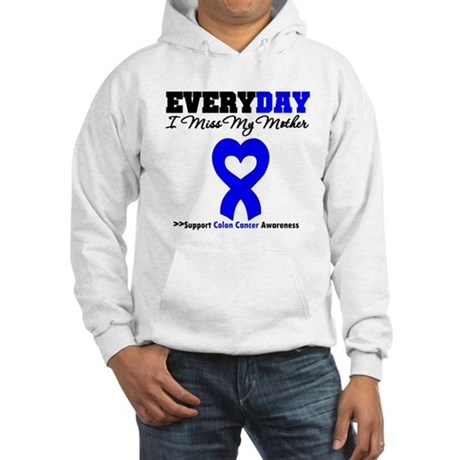 ColonCancerHeart Mother Hooded Sweatshirt