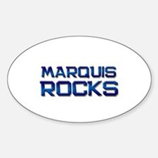 marquis rocks Oval Decal