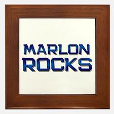 marlon rocks Framed Tile
