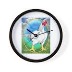 Opal Cornish Rooster Wall Clock