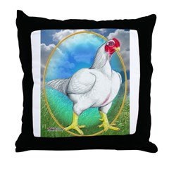 Opal Cornish Rooster Throw Pillow