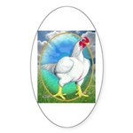 Opal Cornish Rooster Oval Sticker