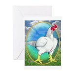 Opal Cornish Rooster Greeting Card