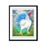 Opal Cornish Rooster Framed Panel Print